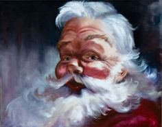 Jolly Santa Claus  Saint Nicholas Christmas by maryjanewhitehurst, $175.00