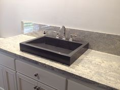 Concrete Ramp Sink Vessel Style, Color is Charcoal. By Buckets Of Stone | $650 | Shipping available. GORG