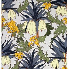 Friti (Slate) WP Sample | Abigail Borg | Surface Pattern Designer & Floral Illustrator