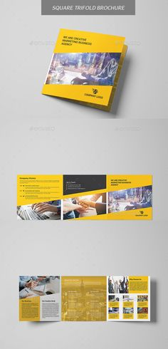 Square #Trifold #Brochure - #Brochures Print Templates Download here: https://graphicriver.net/item/square-trifold-brochure/20336125?ref=alena994