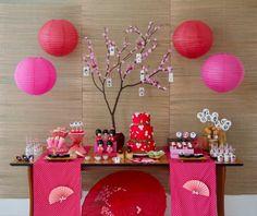 Festa de aniversario japonesa Adulto/Criança.