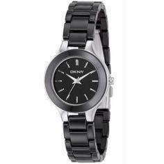 Relógio DKNY Ceramic Bracelet Black Dial Women's watch #NY4887 #Relógio #DKNY