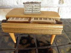 Gold Baby Grand Piano Perfume Display by veryfrenchbydesign, $175.00