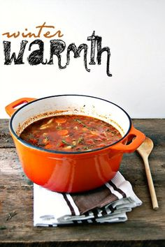 Winter Recipe: Chunky Veggy Soup. Will your kids eat veggy for one night?