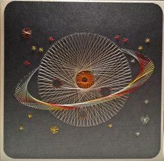 Weltall 02 - Motiv Planet 1 von A&N - Doppelkarte 13,5 x 13,5 cm - von mir gefertigt am 28.11.2015