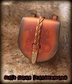 Viking Urnes Belt Pouch by HalfGoatLeatherwork on Etsy