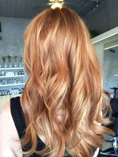 Ginger Blonde Hair, Strawberry Blonde Hair Color, Copper Blonde Hair, Hair Color And Cut, Cool Hair Color, Amazing Hair Color, Balayage Blond, Bayalage, Light Red Hair