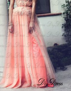 New Arrival A-line Strapless Lace Appliqued Bodice Blush Tulle Skirt Long Prom Dresses for 2015 Party APD1279 · DiyDressonline · Online Store Powered by Storenvy