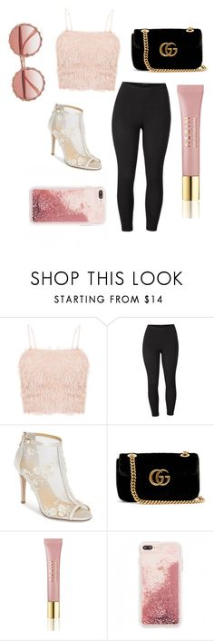 """""""Cotton candy pink 🍬"""" by aubriebarnett12 ❤ liked on Polyvore featuring Venus, Bella Belle, Gucci, AERIN, Dolce&Gabbana and plus size clothing"""
