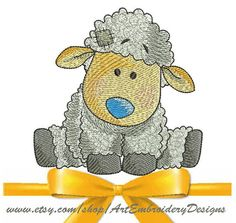 "Sheep - Machine Embroidery Designs Set for a Babies and Children of a series ""Old Toy""and simbol of Chinese New Year"