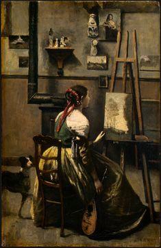 『』Jean-Baptiste-Camille Corot / 1873 / 63×42cm