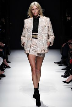 29a3d194 Balmain Fall 2012 Ready-to-Wear Collection - Vogue Anja Rubik, Fashion  Runway