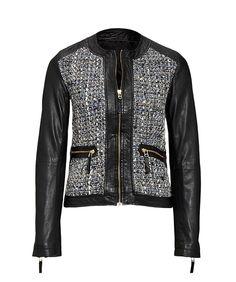Pollini - Lederjacke Leather Jacket, Lunch, Womens Fashion, How To Wear, Outfits, Design, Style, Jackets, Studded Leather Jacket