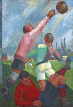 angel zárraga, futbolistas en el llano, 1924-28