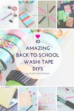 Amazing Back to School Washi Tape DIY's from Heart Handmade