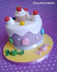 Candy cake - by Zuccherosamente @ CakesDecor.com - cake decorating website