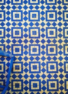 blue and white tile - I believe this is in Intelligentsia. Blecch.