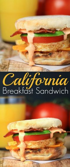 This California Breakfast Sandwich is full of flavour and perfect for ...