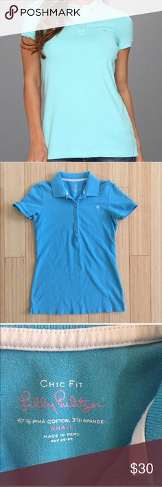 Lilly Pulitzer Blue T-Shirt (BU23N9C) Chic fit cotton t- shirt. Very good condition. Short sleeve. Offers welcome . No trade Lilly Pulitzer Tops Tees - Short Sleeve