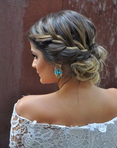 Sep 2018 - Beautiful braids that inspire my creativity. See more ideas about Long hair styles, Hair inspiration and Hair styles. Bride Hairstyles, Messy Hairstyles, Pretty Hairstyles, Hairstyle Ideas, Wedding Hair And Makeup, Hair Makeup, Wedding Nails, French Hair, Ombre French