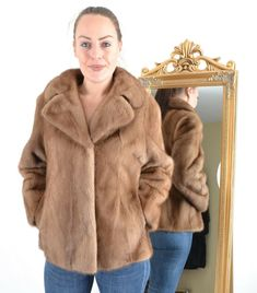 A1275 NERZJACKE PELZJACKE NERZ PELZ JACKE - MINK FUR JACKET COAT - PELLICCIA Mink Jacket, Mink Fur, Fur Coat, Bath, Tops, Jackets, Fashion, Mink, Get Tan