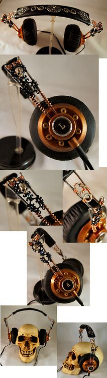 steampunkonda:    Steampunk Headphones by ajldesign