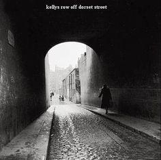 Kelly's Row off Dorset Street Dorset Street, Dublin Street, Dublin City, Old Pictures, Old Photos, Book Of Life, Historical Photos, Birmingham, Street Photography
