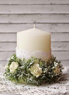 Handmade Home Decor Diy Candles, Pillar Candles, Christmas Candles, Christmas Diy, Handmade Home Decor, Diy Home Decor, Wedding Decorations, Christmas Decorations, Candle Art