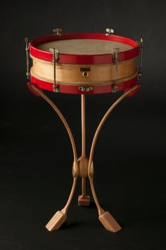 etsy piece from Artisanworks Inc.? Vintage 1920-30's Ludwig snare drum on custom steambent Art Nouveau style stand. HERE