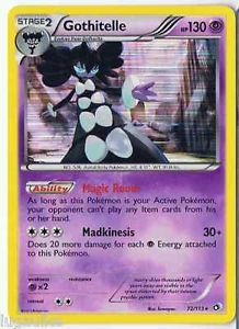 Pokemon Card Legendary Treasures Rare Holo Gothitelle 72/113