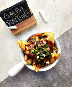 Galbi poutine fries!