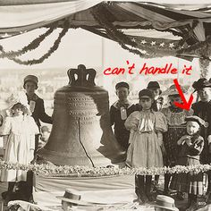 Kids checking out the Liberty Bell on display at the Cotton States and International Exposition in Atlanta in 1895.