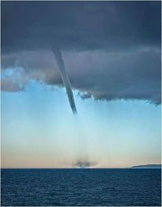 Another brilliant shot of one of yesterday's waterspouts just off Lošinj in Croatia!  February 2016