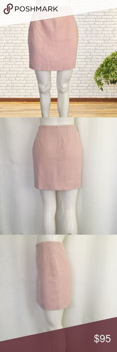 """Christian Dior Wool Mini Skirt 100 % wool 100% silk lining.  Measures about 14.25"""" across the waist 18.5"""" across the hips and 17"""" in length.  Hidden back zipper with hook and eye closure.  Very good condition.  No tears or stains.  No trades. Dior Skirts Mini"""