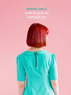 How to sew an exposed zipper - Tilly and the Buttons | Best and Essential Sewing…