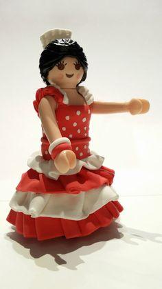 FIGURA PLAYMOBIL CUSTOM Flamenca - Flamenco Dancer - Danseur de flamenco