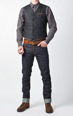 CULTIZM - Carefully selected menswear since Shop over 100 brands in our online shop. Geek Fashion, Denim Fashion, Fashion Outfits, Fashion Menswear, Runway Fashion, Fashion Women, Fashion Trends, Rockabilly Men, Rockabilly Fashion
