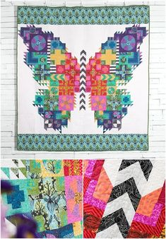 Butterfly Quilt Kit featuring FreeSpirit True Colors by Tula Pink.  Don't flutter by this amazing kit! The Butterfly Quilt Kit from   FreeSpirit includes a pattern and sensational Tula Pink fabric, to sew   this distinctive design. Featuring whimsical prints in a rainbow of   luscious hues, this quilt top is sure to fly off the shelves.  Affiliate link