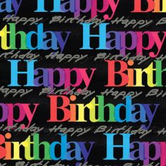 Everyday Giftwrap - Birthday Letters