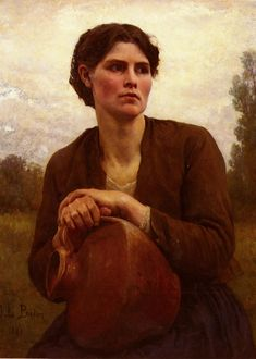 JULES BRETON.... The Water Carrier, 1881... ..... 5/1/1827--7/5/1906