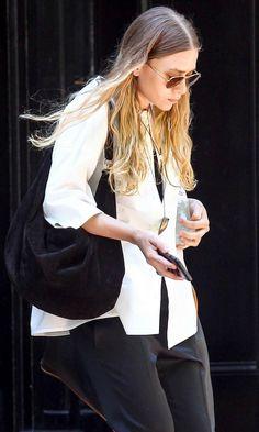 Ashley Olsen Goes Breezy Chic In Black And White
