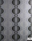 Azhar Black Retro Orb Wallpaper