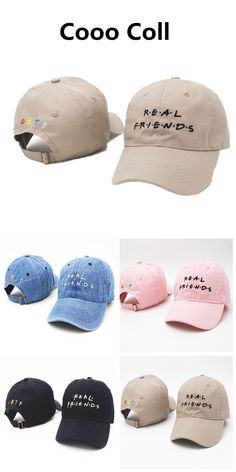 fbac0410 Fashion Letter 2017 Baseball Caps Real Freiend Skater trophy Hat Hip Hop  Swag Kenye Funny Hats