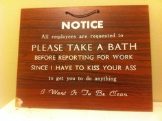 A notice from boss