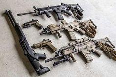 FNH SCARs, FNX Tactical & Benelli 12 gauge (M1?)