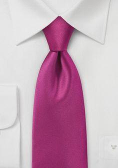 Businesskrawatte einfarbig Mikrofaser pinkfarben