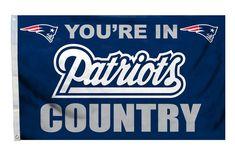 New England Patriots Flag 3x5 Country Design