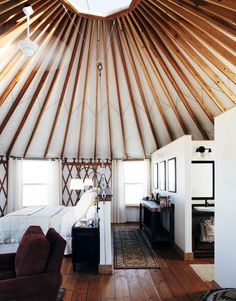 10 Modern Yurts You Could Totally Live In via Brit + Co | Interiors ...