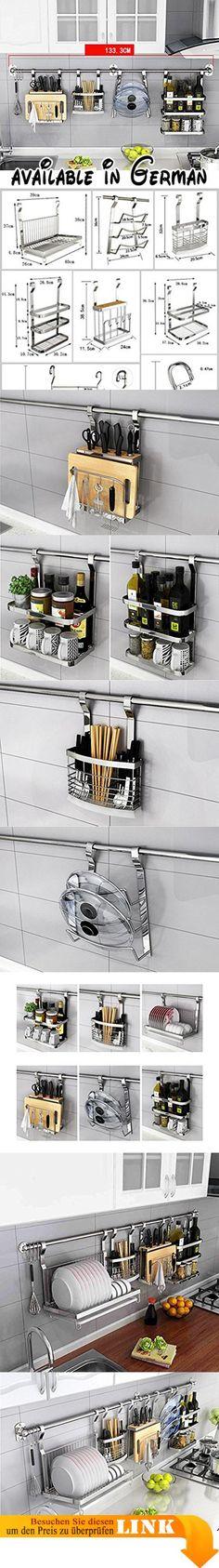 B078TTYJ28  Küche Lagerung und Organisation Besteck Racks Messer - küchen aus edelstahl