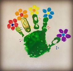 Arts and Craft For Toddler: Hand-print Flowers